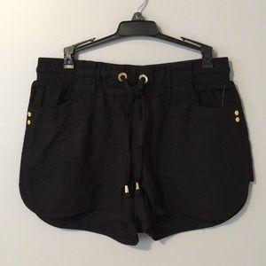 NWT Black linen shorts